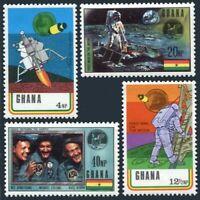 Ghana 386-389,389a two sheets,MNH.Mi 397-400,Bl.39B-38C. Man's Moon landing.1970