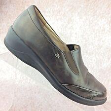 Finn Comfort 'Tallinn' Loafers Brown Leather Wedge Slip On Comfort Shoes - 9 US