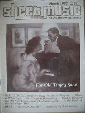 SHEET MUSIC MAGAZINE MARCH 1982 FOR OLD TIME'S SAKE PIANO/GUITAR
