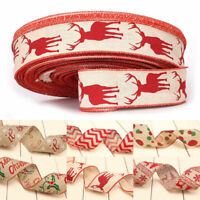 Christmas Printed Ribbon Cotton Gift Wrapping Rope Wedding Decoration Belt Band