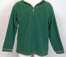 CABELA'S Heavy Fleece Green Pullover 1/4 Zip Sz M