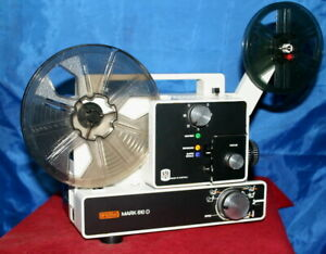 SUPER & STANDARD 8mm.  EUMIG 610D DUAL 8mm SILENT MOVIE PROJECTOR.  SERVICED A1