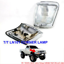 TOYOTA HILUX LN101 PICKUP FRONT CHROME CORNER INDICATOR LIGHT LAMP RH/LH 1988