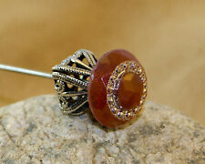 "10"" Long Handmade Hat Pin With Carnelian Topper"