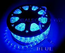"""150"""" FEET LED Rope Lights Color BLUE 1/2"""" / 13MM 1656 LEDs With Accessories"""