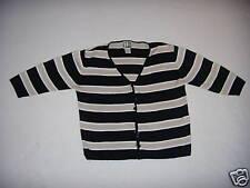 Clio Medium Black/Cool Gray/Silver Striped Sweater