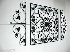 XXL FRENCH WALL ART DECOR set of 3  MURAL  NEW black finish