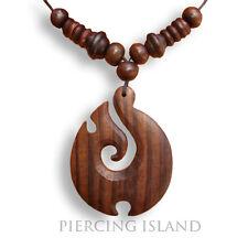 Halskette Anhänger Kette Wood Necklace Maori Holz Design N065