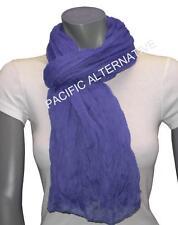 Foulard Bleu foncé grand gros 110x170 femme mixte chale echarpe NEUF scarf blue