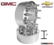 "2 Pc | 8 Lug Wheel Spacers | 3"" inch | 8x6.5 | Fits 2500HD 3500HD Duramax Diesel"