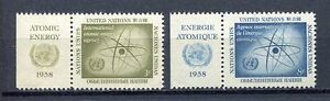 19024A) United Nations (New York) 1958 MNH Atomic En Lab