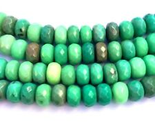 """Natural Moss Green Opal Rondelle Beads - 8x5 mm 7.5"""" Strand  from Australia"""