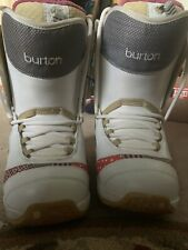 New listing Burton Womens Snowboard Boots Size 8 White Gray Pink