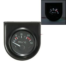 2'' 52mm Universal Car Pointer Oil Temperature Temp Gauge 50-150℃ LED Light