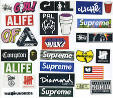 Supreme Classic Box Logo 29 X Skateboard Stickers Car Vinyl Decal Laptop Sticker