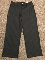 Chicos Womens Size 3 Ultimate Fit Gray Blue Dress Pants Polyester Blend NWT A35
