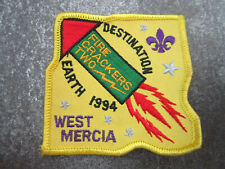 West Mercia 1994 Cloth Patch Badge Boy Scouts Scouting L8K
