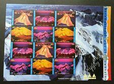 United Nation Mountain 2002 Nature Environment Volcano (sheetlet) MNH