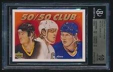 1991-92 Upper Deck French 50/50 Club Wayne Gretzky Mario Lemieux B. Hull BGS 10