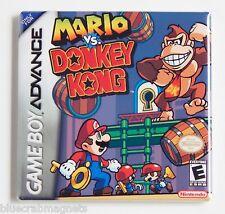 Mario vs Donkey Kong FRIDGE MAGNET (2 x 2 inches) video game box