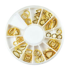Fashion Girl DIY Nail Art Stud Gold Patch Hollow Metal Frame Sticker Decoration