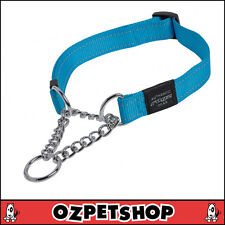 ROGZ Utility Medium 5/8-inch Reflective Snake Obedience Half-check Dog Collar T