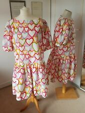 Panto Dame /Gay Pride Event / Hen Party Dress with multi coloured hearts