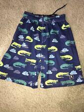 Boy's Blue Lacrosse Unlimited Shorts Alligators Size Youth Large
