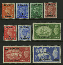 Kuwait  1950-51   Scott # 93-101  Mint Never Hinged Set