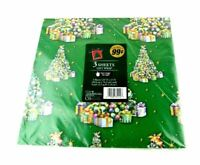 Vtg Wrapping Paper Gift Wrap OOP Christmas Happy Birthday Sealed Presents Tree