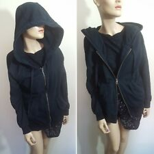 🦄Stella McCartney ADIDAS Size 40 10 12 Black Hoodie Hooded Sweatshirt Sweater