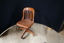 Antique Sikes Company Oak Office Industrial Chair