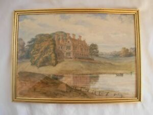 ANTIQUE FRENCH FRAMED WATERCOLOR PAINTING ON PAPER,SIGNED,EARLY 20th CENTURY.