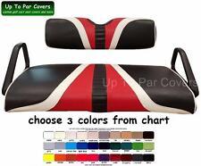 E-Z-Go TXT Hole-In-One Golf Cart Custom Vinyl Seat Cover - ZIPS ON!