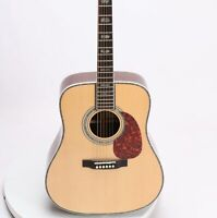 Handmade Custom Dstyle 45Acoustic Guitar Solid Spruce Abalone Inlay Grover Tuner