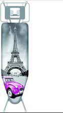 Titanio Nuovo Di Zecca WPRO Copertura Asse da Stiro Taglia L Parigi e auto 122 x 42 cm