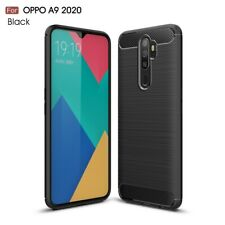 POUR OPPO A9 2020 / A11x COQUE NOIR CARBONE SILICONE GEL TPU CASE COVER HOESJE
