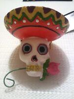Dia De Los Muertos Sugar Skull hanging ornament