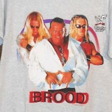 Vintage 90s WWF/WWE/TNA THE BROOD EDGE CHRISTIAN GANGREL VAMPIRE T-Shirt sz M