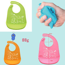 Kid Infant Bibs Baby Soft Silicone Bib Cartoon Waterproof Saliva Dripping Bibs