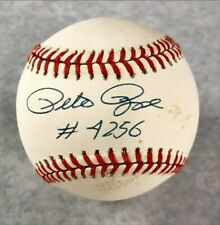 "Pete Rose Inscribed ""4256"" Cincinnati Reds Autographed MLB Baseball w/ JSA COA"