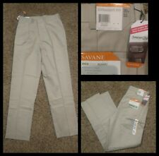 Savane Polyester Phantom Gray   Premium Flex Flat Dress Pants SR$72 NEW