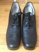 Vintage 1950s 60s Granny Heels Oxfords Laceup New Old Stock
