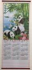 2018 Chinese Panda Calendar Wall Scroll #710