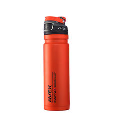 Avex FreeFlow Autoseal Stainless Steel Water Bottle 24oz Burnt Orange Cycling