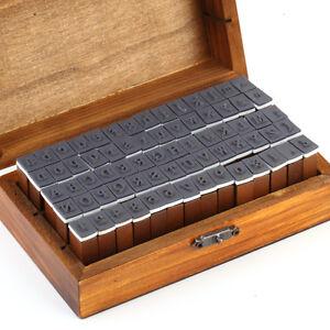 70 Stk. Holz Gummi Alphabet Buchstaben Grss-/Klein- Nummern Stempel-Set Retro