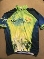 Men's Nautica Triathlon South Beach Miami Cycling Jersey Large L