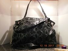 Elliott Lucca Tote, Faux Snake, Handles, Shoulder Strap, Patent Leather, 102/01