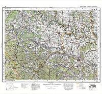 MAP ANTIQUE 1930 POLISH MILITARY POLAND NEIGHBOURS REPLICA POSTER PRINT PAM0471