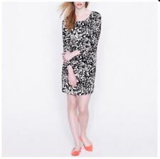 ab972fa6 J.CREW Womens 4 SMALL Black Beige Animal Print JULES Pocket Short Dress Work  d2p